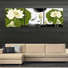 Tranh Canvas treo tường nghệ thuật | Tranh bộ nghệ thuật 3 bức | HLB_238