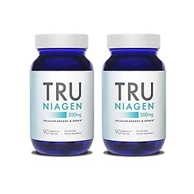TRU NIAGEN Nicotinamide Riboside NAD Booster for Cellular Repair & Energy (NSF Certified for Sport) - 300mg Vegetarian Capsules, 300mg Per Serving - 90 Day Bottle - 90 Count (Pack of 2)
