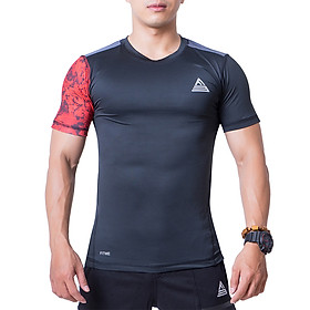 Áo Tập Gym Nam Fitme Slimfit Extreme Tay Ngắn - FAGMSLEN-DD (đen-đỏ)