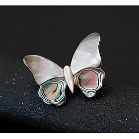 Cài áo  thời trang cánh bướm chất liệu ốc sừng lạ mắt GC197