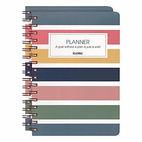 Lốc 2 Sổ lò xo kép Klong Planner A5 - MS: 945 - Mẫu 1