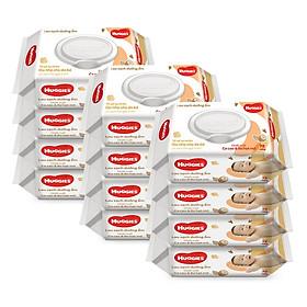 Combo 12 gói Khăn giấy ướt cho trẻ sơ sinh HUGGIES (Gói 72 tờ) - Chiết xuất Cao cao & Bơ hạt mỡ
