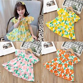 Váy hoa Baby Doll cho Bé Gái chất Đũi Tơ mềm mát (6-18kg) - Đầm công chúa họa tiết hoa nhí siêu xinh