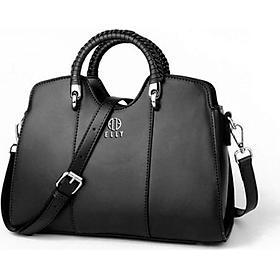 Túi nữ cao cấp da thật ELLY- ET84 đen
