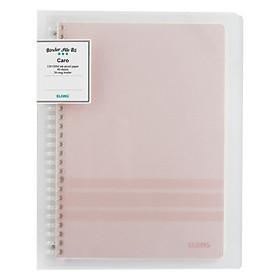 Sổ Caro file nhựa kẹp B5 - 40 tờ; Klong TP544 màu hồng