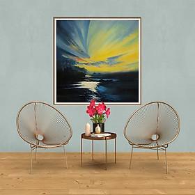 Tranh canvas phong cách màu nước (watercolor) Chạng vạng - WT011