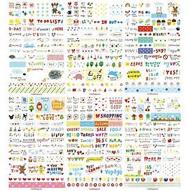 Bộ 06 Tấm Sticker Trang Trí  Sổ Nhật Ký