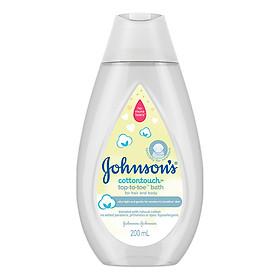 Sữa tắm gội toàn thân Johnson's Baby mềm mịn (200ml)