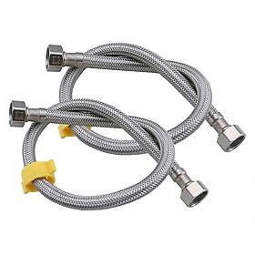 Cặp dây cấp nước nóng chất liệu inox 40cm