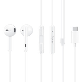 HONOR AM33 Classic Earphones (USB-C Edition) Half In-ear Corded Headset Stereo Audio Immersive Wired Headphone with Mic