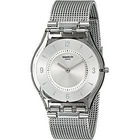 Swatch Women's SFM118M Quartz Stainless Steel Silver Dial Casual  Watch