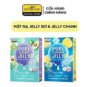 Combo 2 Hộp Mặt Nạ Jelly SEXYLOOK: 1 Hộp Mặt Nạ Jelly Bơ Cấp Ẩm + 1 Hộp Mặt Nạ Jelly Chanh Se Khít Lỗ Chân Lông