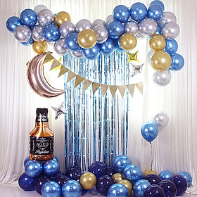 87PCS Balloons Kit Birthday Party Decoration Blue Balloon Kit Balloon Arch Garland Balloon Garland Arch Kit for Wedding