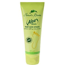 Kem dưỡng và hỗ trợ trị nứt gót chân Aloe Miracle Foot Care Cream 80ml