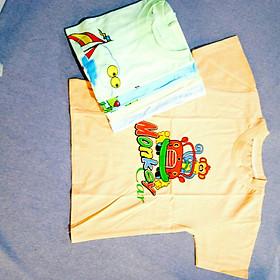 Combo 5 áo thun cổ tròn màu cho bé PCkids