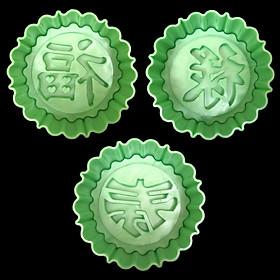 Bộ 3 khuôn nhận xôi, bánh in, trung thu hình tròn Phúc Lộc Thọ