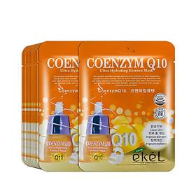 Gói 10 mặt nạ dưỡng da Ekel chiết xuất Coenzym Q10 (EKEL Coenzym Q10 ULtra Hydrating Essence Mask)