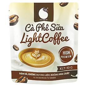 Cà phê sữa Light Coffee đậm đà , thơm ngon , đặc biệt không hương liệu , an toàn cho sức khỏe , Gói 50G tiện lợi