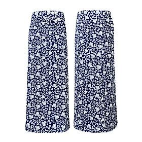 Bộ 2 váy chống nắng 2 lớp họa tiết