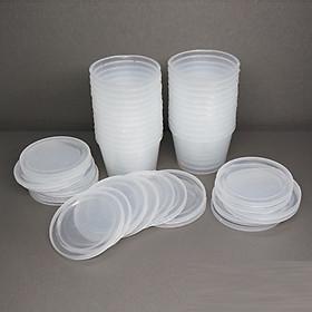Hộp nhựa đựng làm Bánh FLan . rau câu , sữa chua ,caramen , đựng slime set 50 hộp