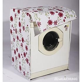 Trùm Máy Giặt 2 Lớp - Dùng Cho Máy Giặt Lồng Ngang 7-10 kg - Giao Họa Tiết Ngẫu Nhiên