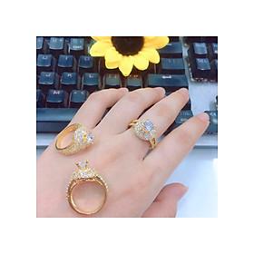 Nhẫn nữ đính xoàn mạ vàng 18k mã EKH100