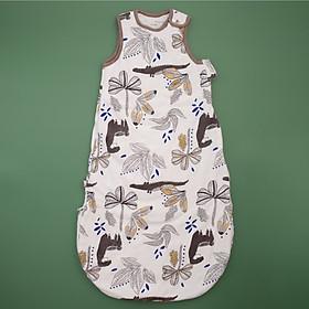 Túi ngủ 3 lỗ hình cá sấu màu nâu siêu xinh cho bé yêu chất nỉ bông trần dày ấm áp