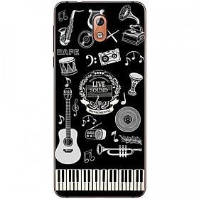 Ốp lưng dành cho  Nokia 3.1 mẫu Nhạc cụ nền đen