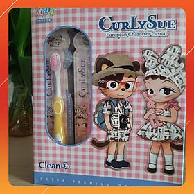 Hộp 20 bàn chải đánh răng cho bé Curly Sue nhập khẩu Hàn Quốc (Dành cho bé từ 3 đến 8 tuổi)