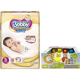 Tã Quần Cao Cấp Bobby Extra Soft Dry S70 (70 Miếng) - Tặng 1 hộp đồ chơi pop-up animal