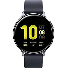 Samsung Galaxy Watch Active2 (Silicon Strap + Aluminum Bezel) Bluetooth - International (Aqua Black, R820-44mm)