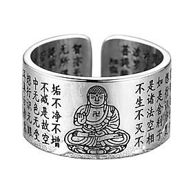 Nhẫn Nam Bạc Hiểu Minh NA543-TH Phật Bản Mệnh A Di Đà - Tuổi Tuất, Hợi Bạc ý