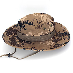 Military Camouflage Bucket Hats Camo Fishing Hunting Mountain Cap Outdoor Men Sun Protection Hat - Color Random