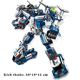 Đồ Chơi Lắp Ráp Trẻ Em -ROBO POLICE Cao 29 cm - Bằng nhựa ABS an toàn Lego Style