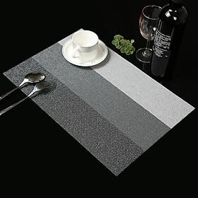 Miếng Lót Bàn Ăn Hình Kẻ Ngang TNNC0120 (45 x 30 cm)