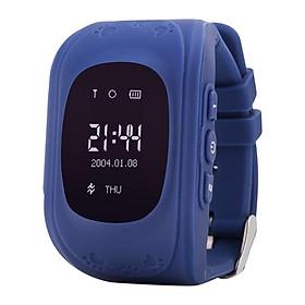 Đồng hồ định vị GPS Wonlex Q50 (Xanh Tím Than) - Hàng Chính Hãng