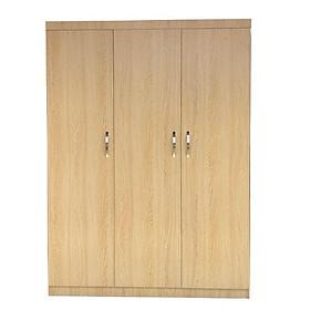 Tủ quần áo bằng gỗ 3 cánh 2mx1m2 màu vàng