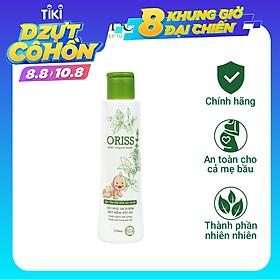 Sữa Tắm Gội Hằng Ngày Cho Bé Dịu Nhẹ Không Cay Mắt hỗ trợ Trị Rôm Sẩy  Oriss Baby (chai 150ml)