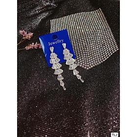 Bông tai nữ dạng váy 6 tầng mẫu hót nhất bac