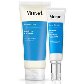 Set Murad: Sữa rửa mặt cho da mụn Murad Clarifying cleanser 200ml + Serum giảm mụn thông minh Murad Outsmart Acne Clarifying Treatment (5ml)