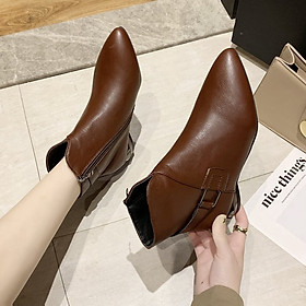 Giày bốt Martin thắt dây thời trang nữ cá tính