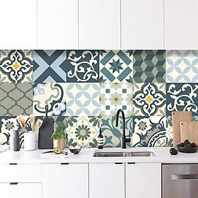Decal gạch bông trang trí dán bếp, dán tường - mã HV666