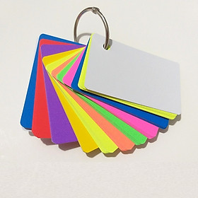 100 thẻ flashcards 8 màu dạ quang học tiếng anh bo góc  nhỏ - Flashcard Phan Liên