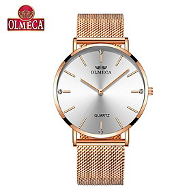 OLMECA 0839L Women Quartz Watch Stainless Steel Band Fashion Multifunction 3ATM Wristwatch