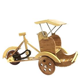 Mô hình xe xích lô gỗ - size lớn