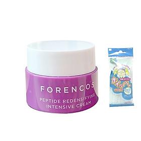 Kem dưỡng chống lão hoá ban đêm Forencos Peptide Redensifying Intensive Cream MINISIZE 10ml + Tặng Kèm 1 túi Lưới rửa mặt tạo bọt