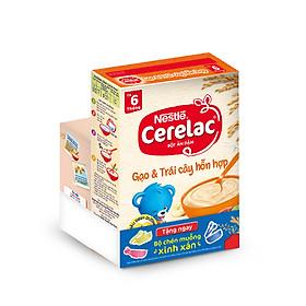 Bột Ăn Dặm Nestle Cerelac - Gạo Và Trái Cây (200g) - Tặng Kèm Bộ Chén Muỗng Ăn Dặm