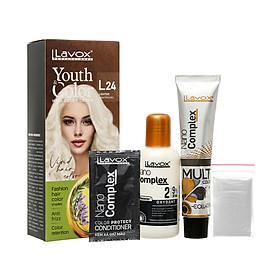 Kem nhuộm màu tóc cao cấp Lavox Youth&Color L24 ( Nâng tông màu)