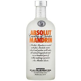 Rượu Vodka Absolut Vị Quýt 700ml 40% - Không Kèm Hộp