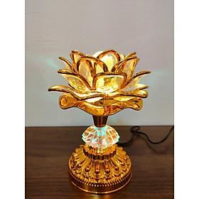Đèn thờ có đèn đổi màu tụng kinh Phật